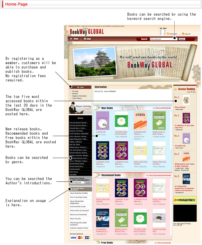 BookWay GLOBAL Home Page